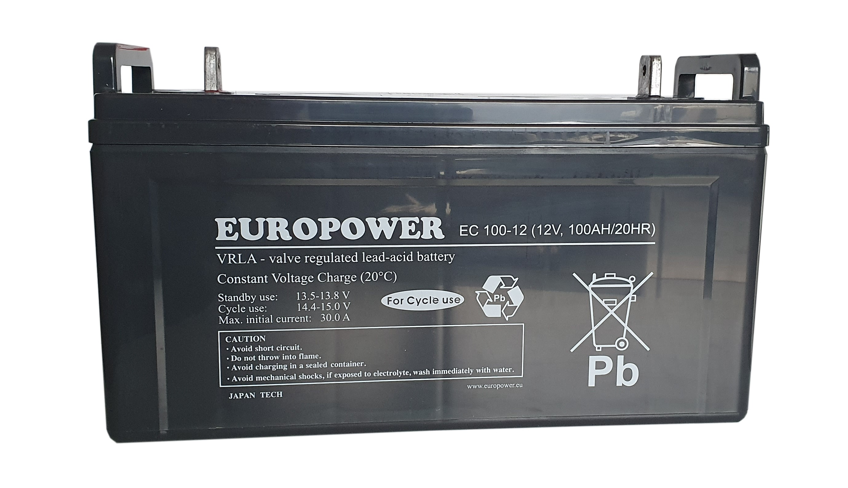 Akumulator AGM 12V 100Ah EC Europower Deep Cycle