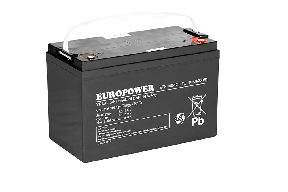 Akumulator żelowy AGM 100Ah 12V do UPS ESP Europower